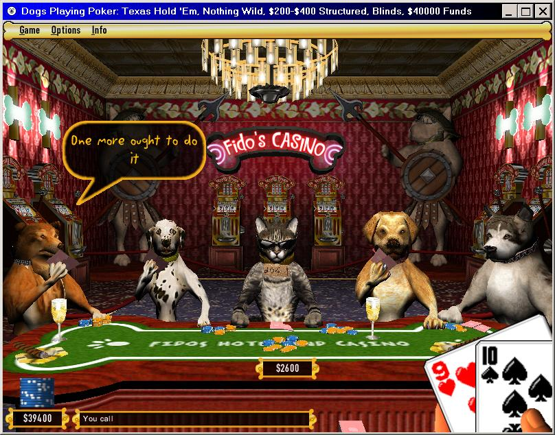Dogs Playing Poker is a first-person, three-dimensional poker game designed